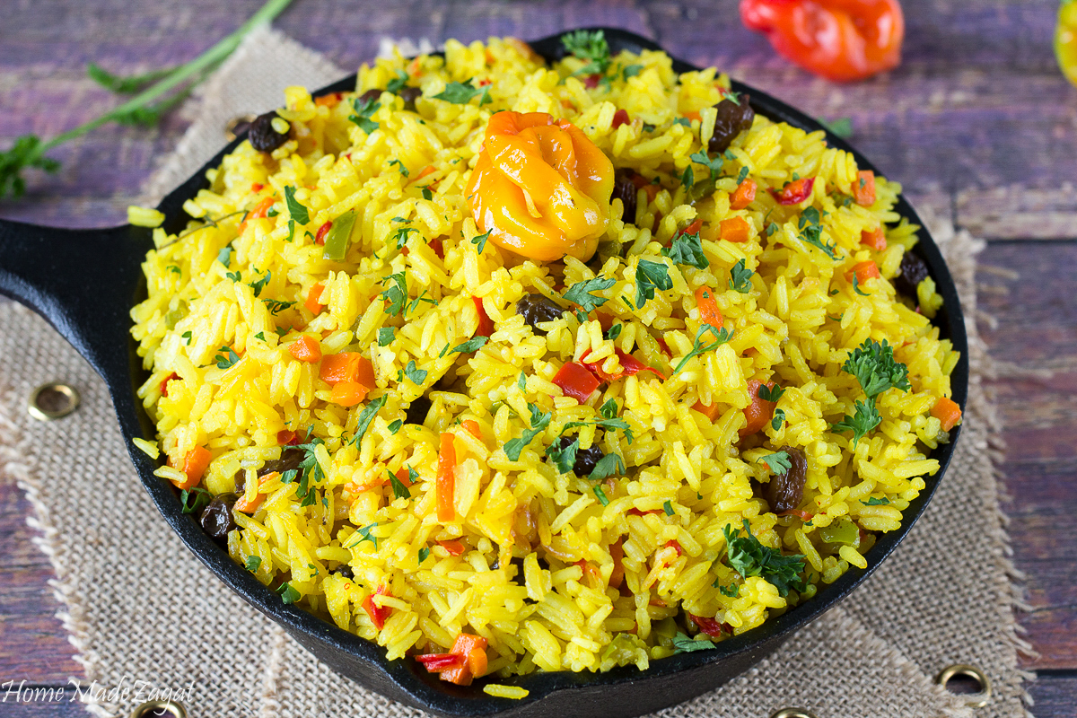 Yellow Saffron Rice with Turmeric