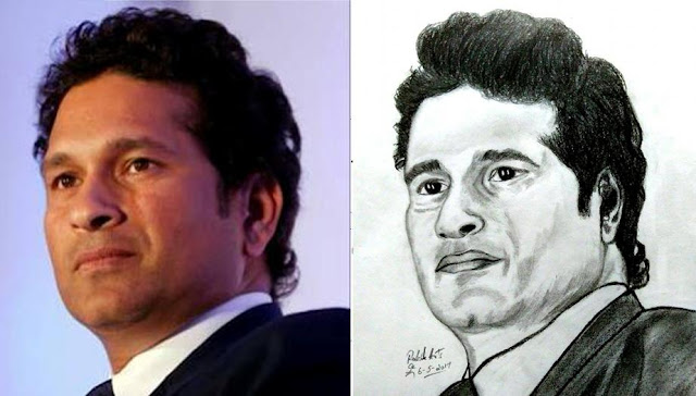 PENCIL DRAWING - Sachin Tendulkar