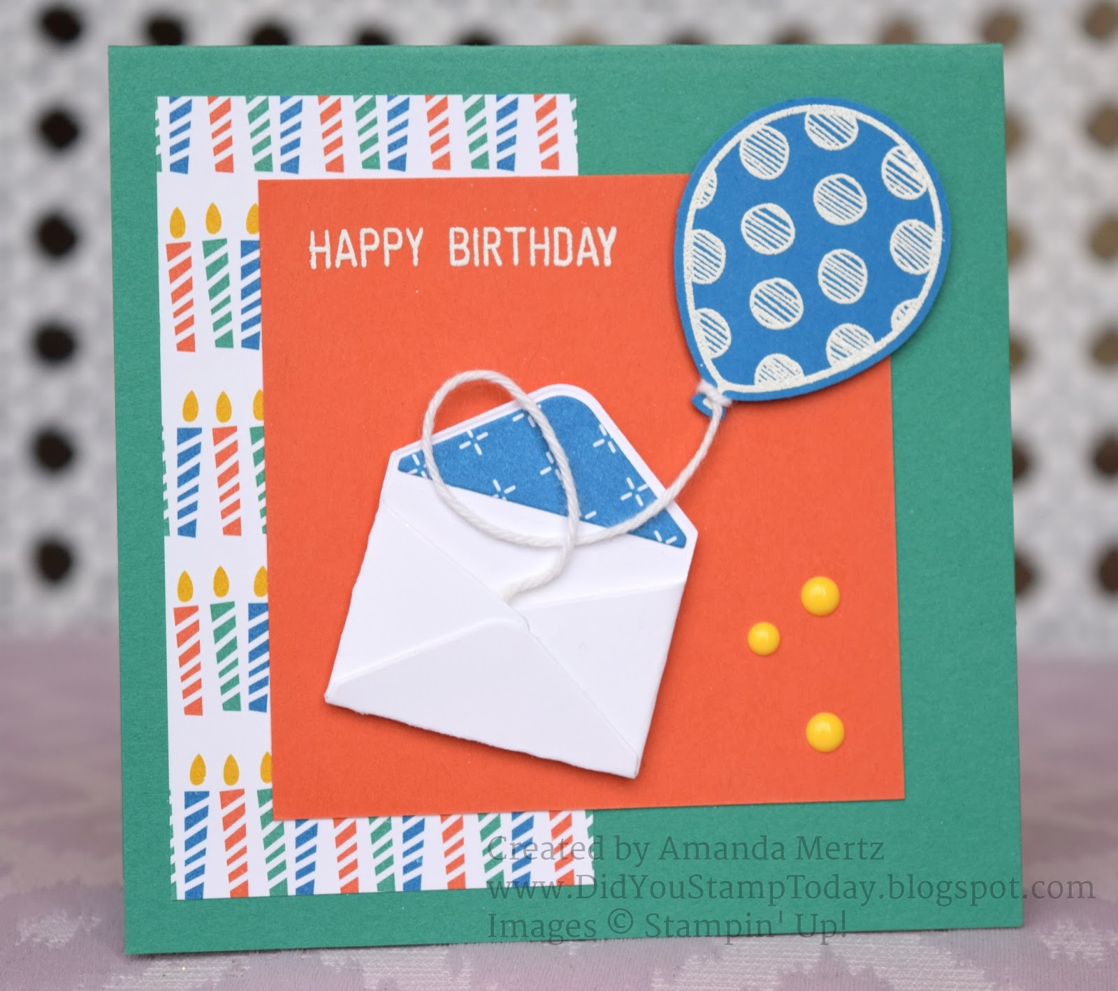 Did You Stamp Today?: Birthday Envelope