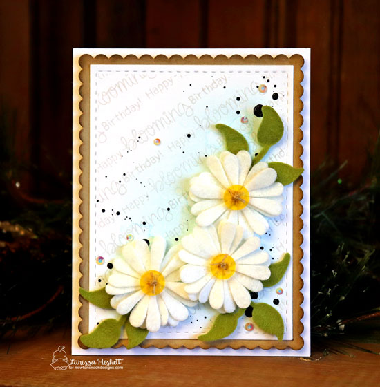 Daisy Flower card by Larissa Heskett | Flower Trio Die Set and Loads of Blooms Stamp Set by Newton's Nook Designs