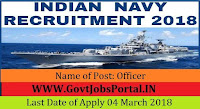 Nausena Bharti Indian Navy Recruitment 2018 – 19 Officers