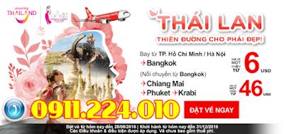 Vé máy bay khuyến mãi Air Asia đi Thái Lan