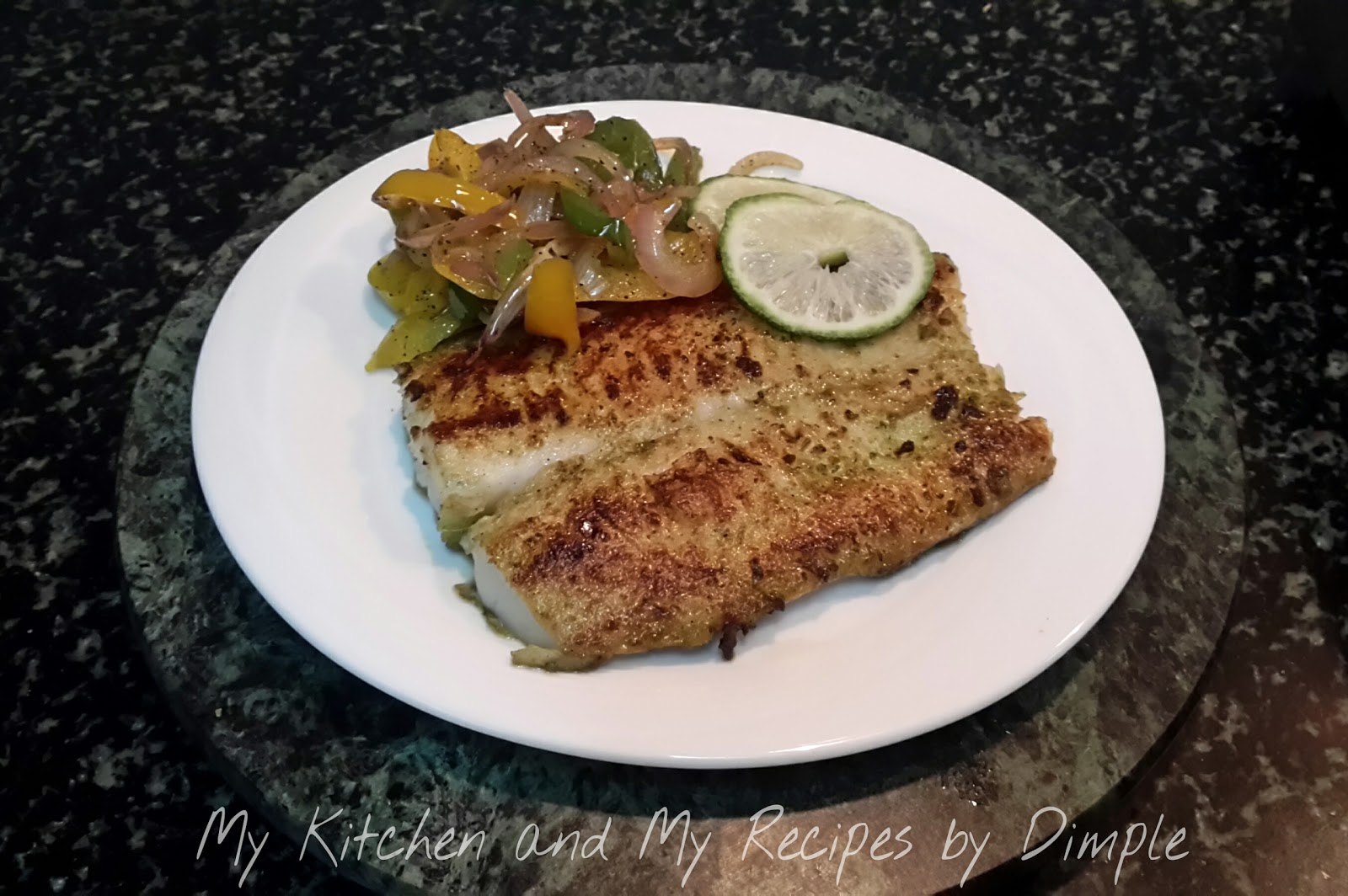 My Kitchen And My Recipes Grilled Fish With Sauted Vegetables