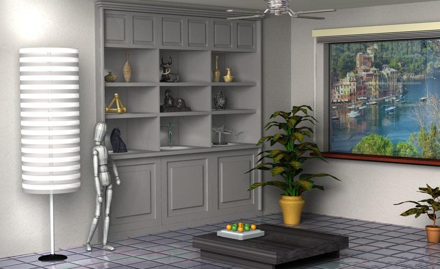 Mockup of a room