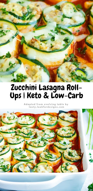 Zucchini Lasagna Roll-Ups Keto and Low Carb