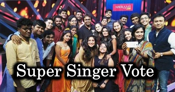 Super Singer Vote  Online Voting Season 6  Vijay TV 2018 Show