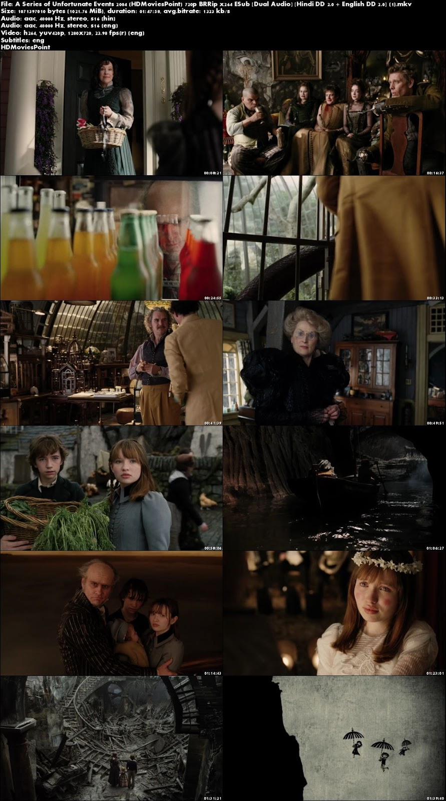 Screen Shots A Series of Unfortunate Events 2004 Full Movie Download Hindi 720p