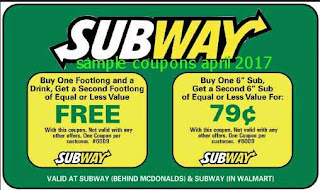 Subway coupons for april 2017