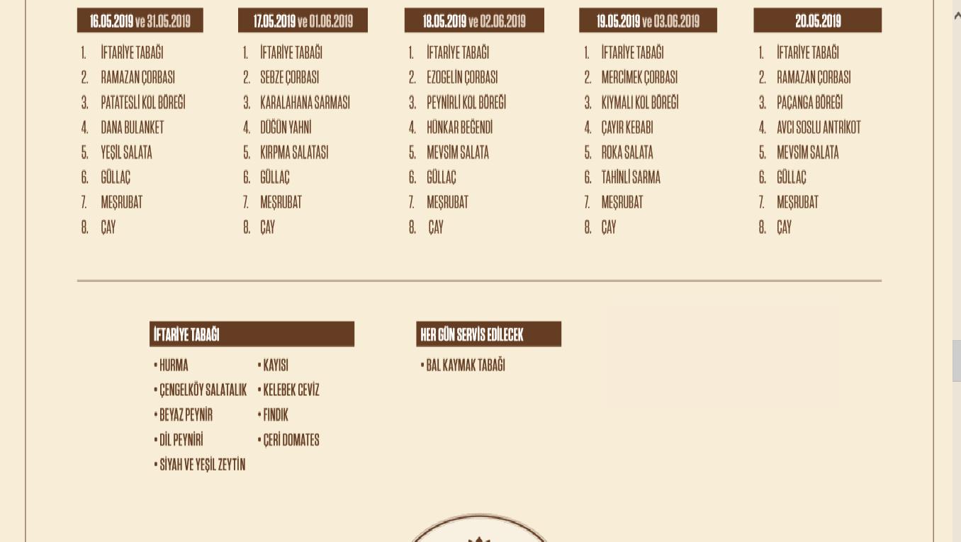 kasımpaşa sosyal tesisleri iftar menüsü fiyatı kasımpaşa sosyal tesisleri iftar 2019