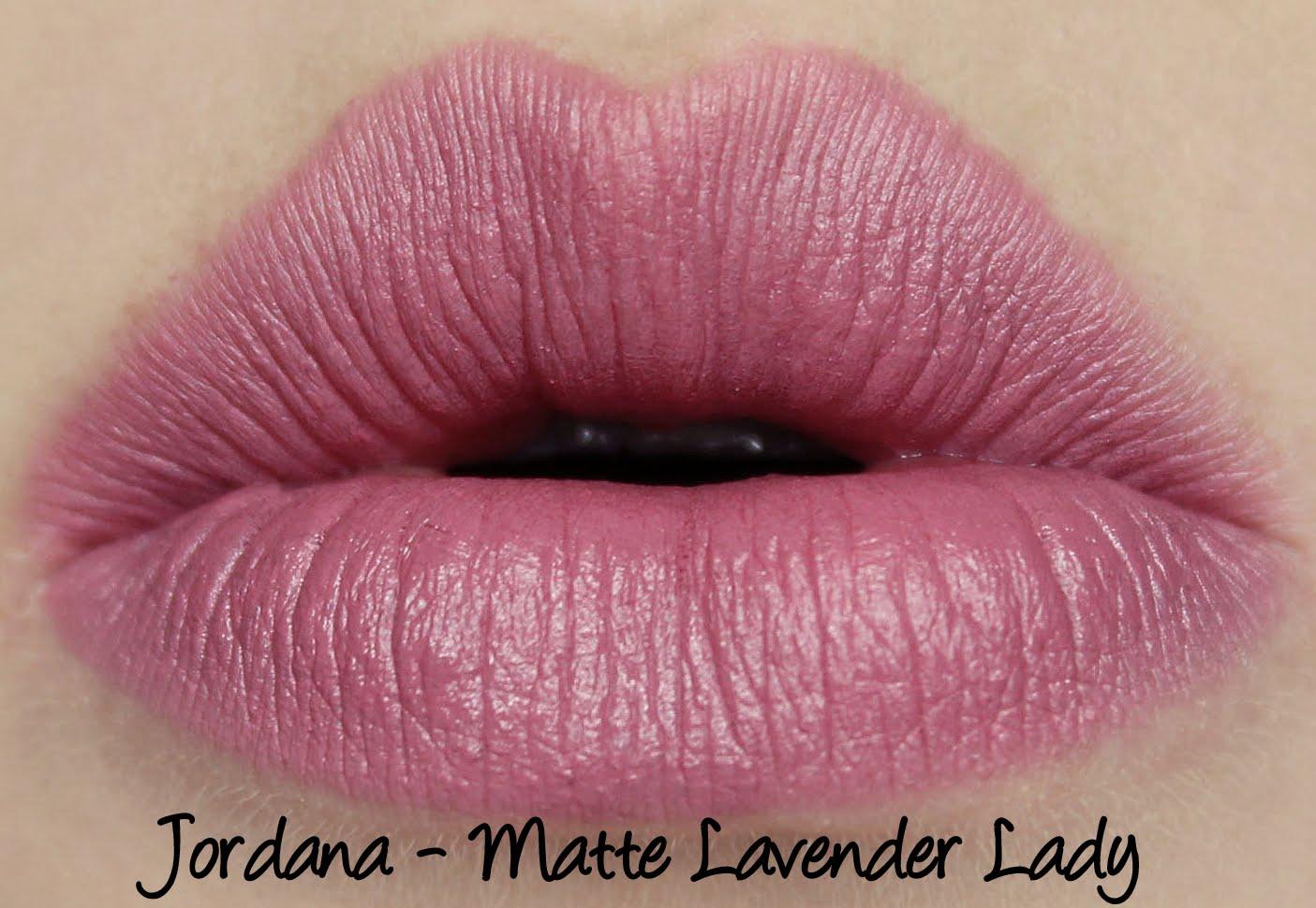 Jordana - Matte Lavender Lady lipstick swatch