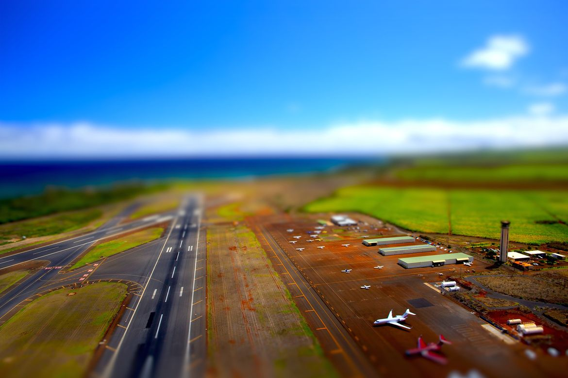 12. Kahului Airport Tilt Shift by Dustin McGrew