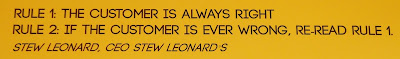 Wall Graphic Quote: The Customer is Always Right