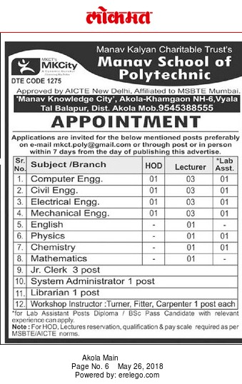resume for polytechnic teachers