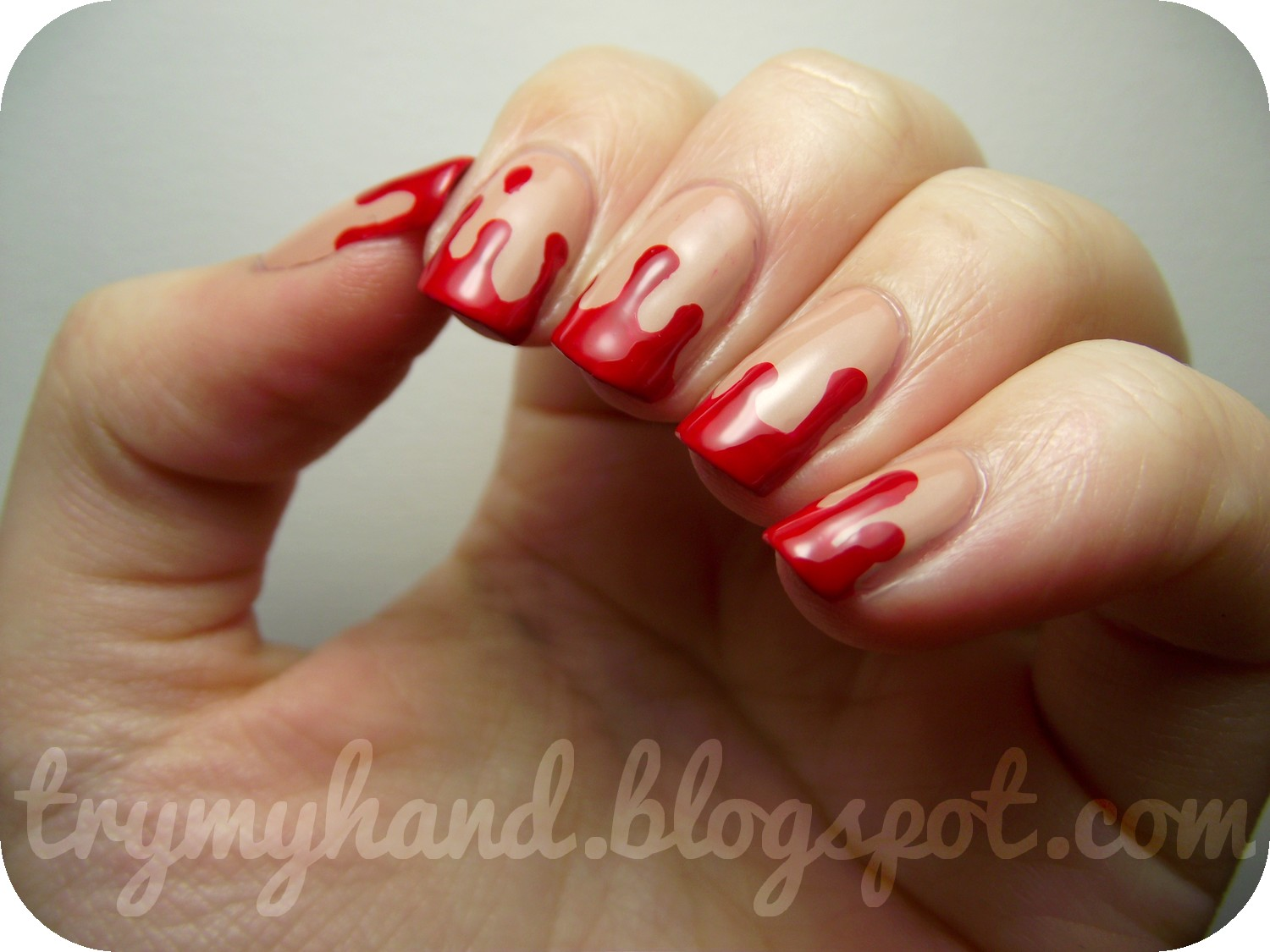 Try My Hand: Halloween Nails : Blood Drips