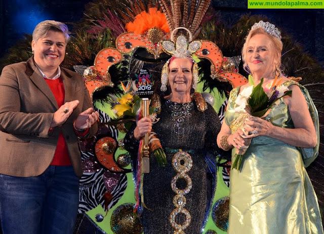 Lupe Ventura Acosta, reina Gran Dama del Carnaval de Los Llanos de Aridane 2018