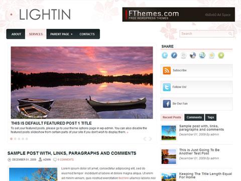 Lightin Free WordPress Theme