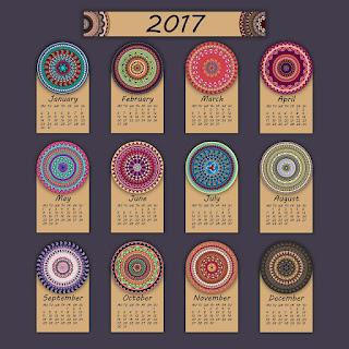 2017カレンダー無料テンプレート101