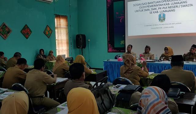 Sosialisasi BOS di Aula SMAN 1 Lumajang