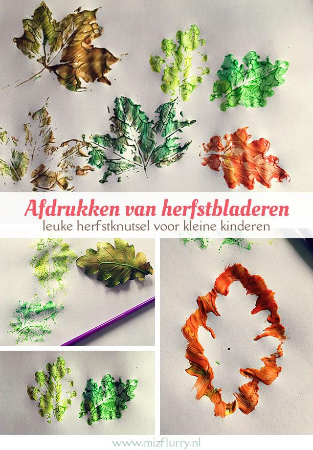herfst knutselen herfstblad maken pinterest