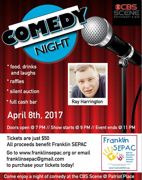 7th ANNUAL SEPAC COMEDY SHOW SATURDAY, APRIL 8TH
