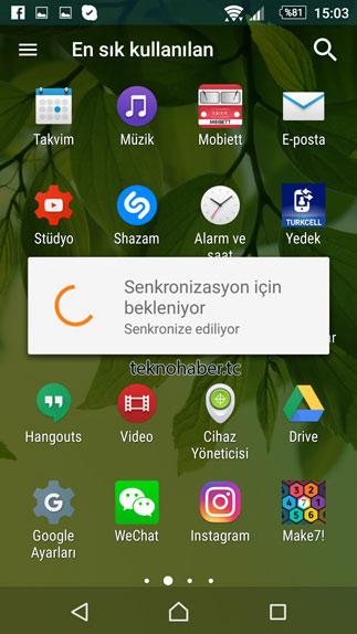 android eposta senkronizasyon
