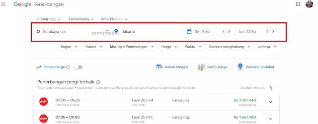 Tips Mencari Tiket Pesawat Termurah Dengan Google Flights-1