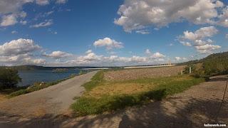 Desvio para chegar mais próximo da margem da represa de Xingó.