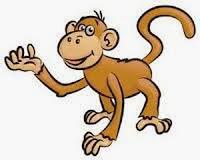 Soal UAS Bahasa Indonesia Kelas 1 Semester 1 gambar 3 monyet