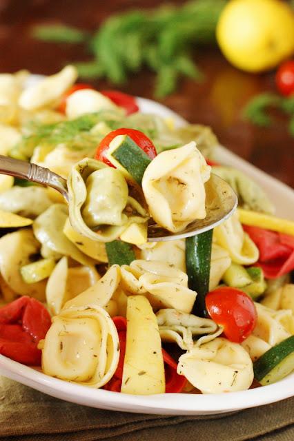 Summer Vegetable Tortellini Salad