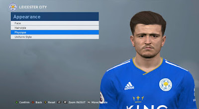 PES 2017 Faces Harry Maguire by ABW_FaceEdit
