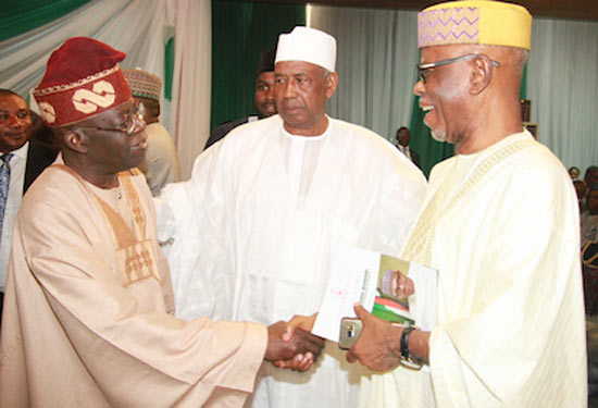 See what happened when Tinubu and Oyegun met face to face in Abuja