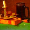 Llibre, tassa, espelma i pipa (John Frederick Peto)