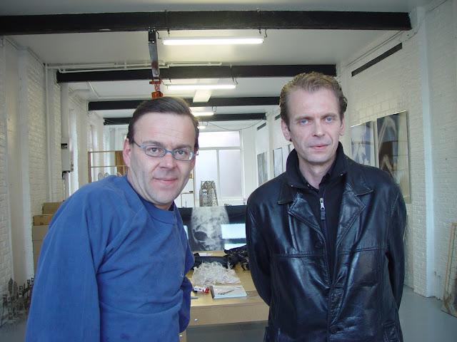 Wim Delvoye & Klaus Guingand - 2005 - Gent - Belgique. Wim Delvoye studio  © Muriel Bonel