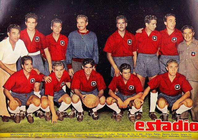 Formación de Chile ante Ecuador, Campeonato Sudamericano 1953, 19 de marzo