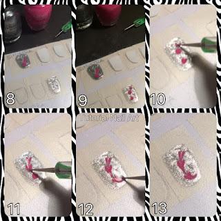tutorial nail art di come disegnare dei cuori sullo sticker home made utilizzando il dotter