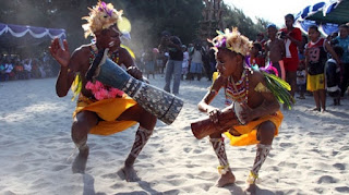 The Offerings of Arts and Culture At Festival Asmat Papua Indonesia