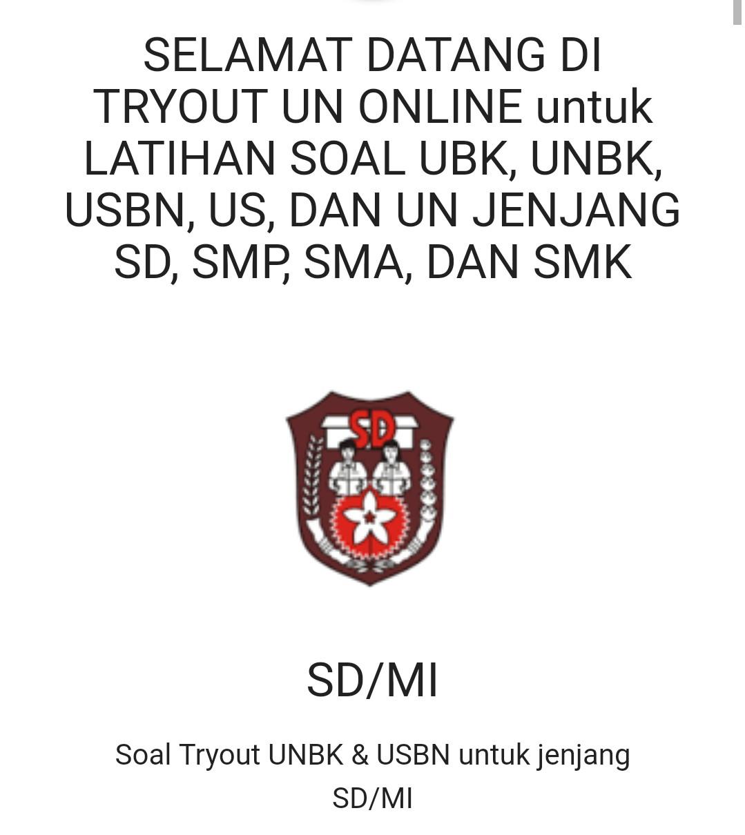 Latihan / Try Out UN Online Gratis Tingkat SD, SMP Dan SMA