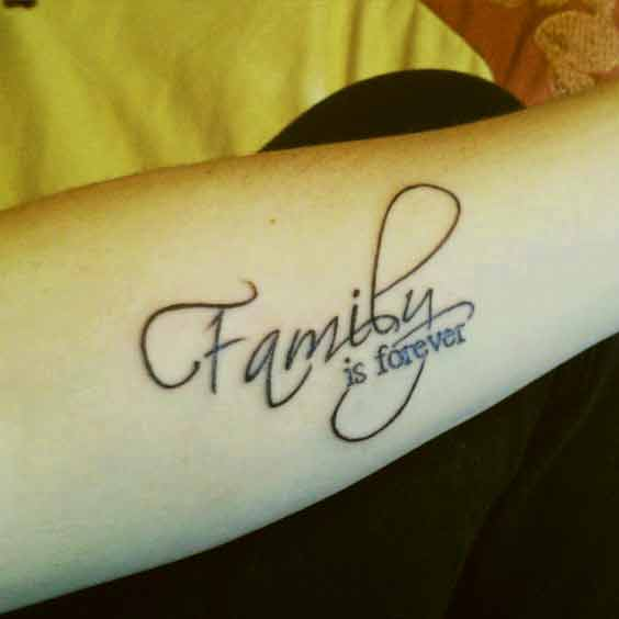 Family is forever quotes tattoo design