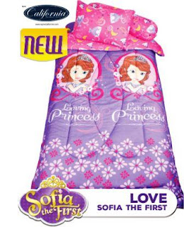 Sprei california single motif Sofia love