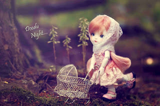Barbie Girl Doll with Good Night Wishes