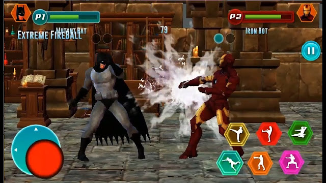Superhero Fighting Immortal Gods Ring Arena Battle