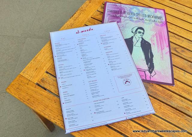 Al Maeda Restaurant menu