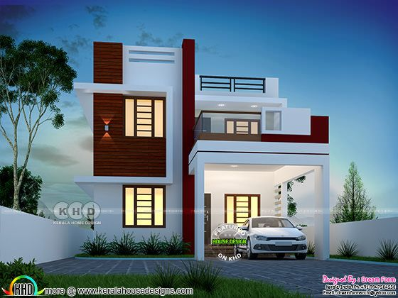 ₹24 lakhs construction cost estimated Cute little double storied home