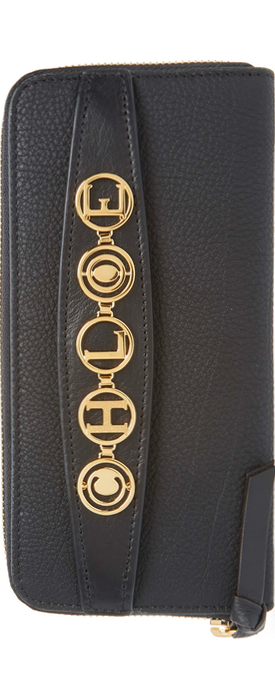 CHLOÉ Messages Around Leather Wallet