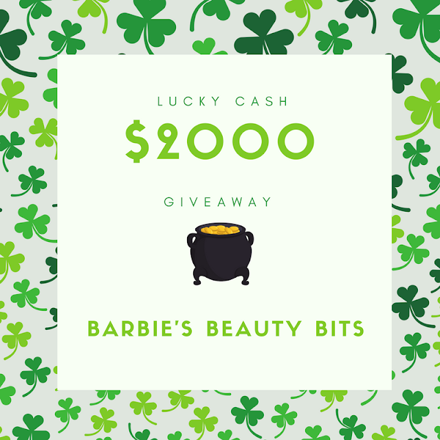 $2000 Giveaway By Barbies Beauty Bits