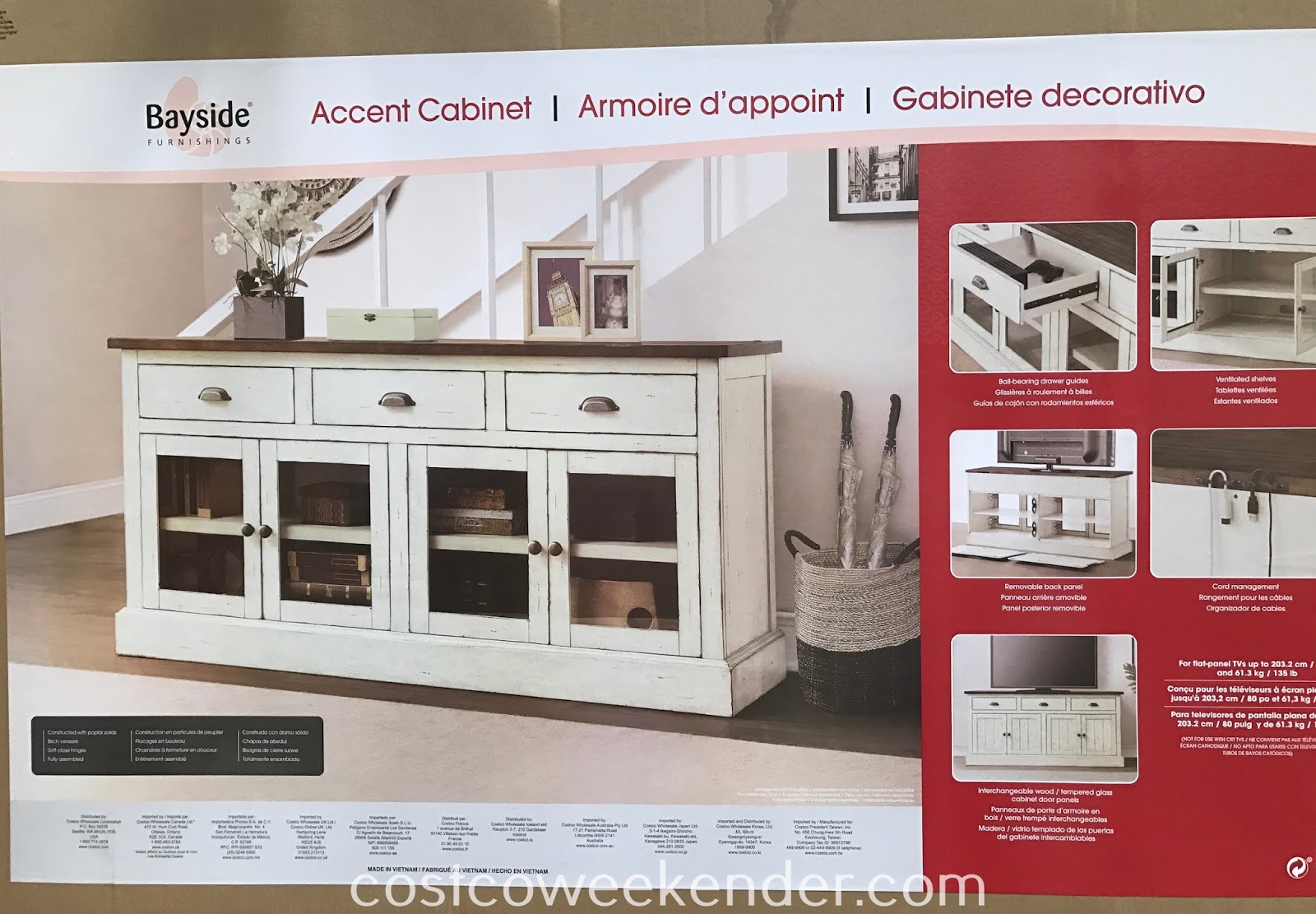 Costco 2000875 - Bayside Furnishings Accent Cabinet: great for any home