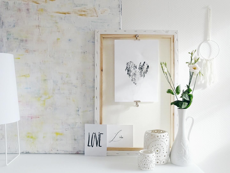 Mit Baumscheiben DIY-Wandbilder drucken | DIY-Geschenkidee - auch zum Muttertag | Personal Lifestyle, DIY and Interior Blog | Auf der Mammiladen-Seite des Lebens