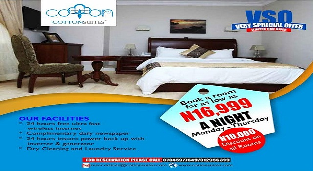 Cotton Suites Nigeria's Most Underrated Hotel