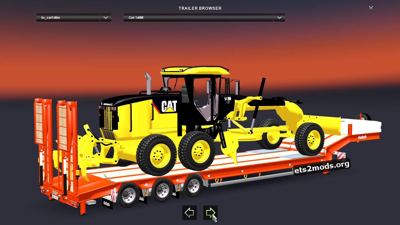 Trailer - CAT 140M