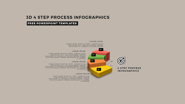 Multi Step 3D Circular Process Diagram Infographic Free PowerPoint Template Slide 5